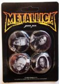 Metallica - 'Band Members' Badge Set